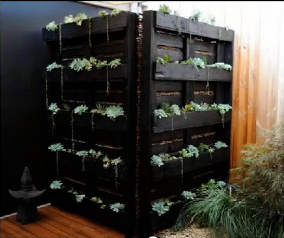Una tarima de madera puede dar vida a un hermoso jard n - Biombos para jardin ...