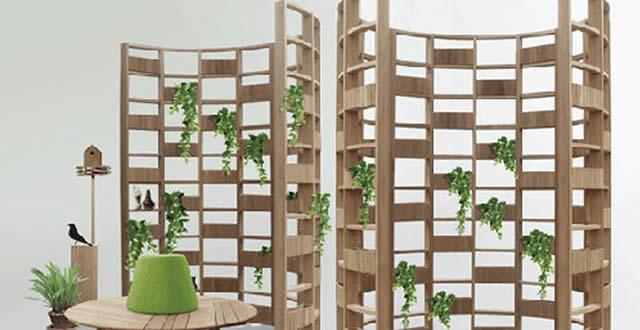 Construyendo un jard n vertical con estantes y repisas for Estantes para plantas exteriores