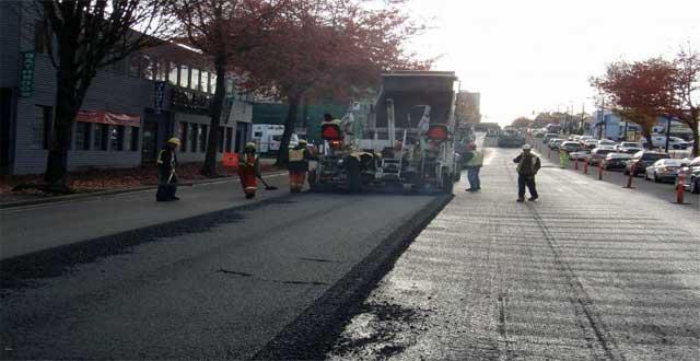 Nuevo asfalto en Vancouver