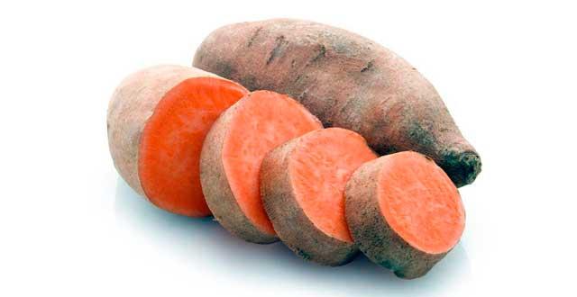 Camote anaranjado vitamina